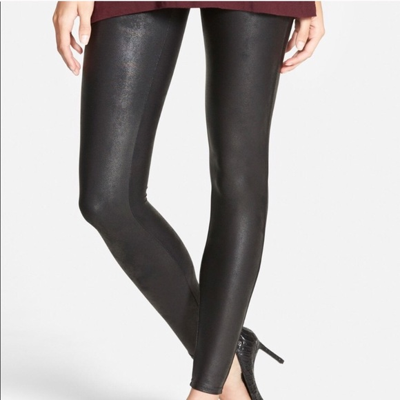"4d48deec4df SPANX ""ready to wow"" faux leather leggings"